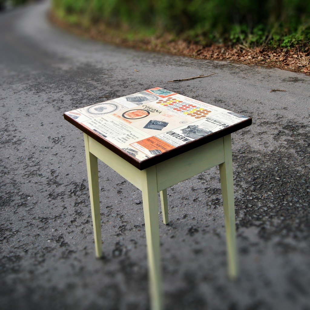 Small Decoupage Coffee Table